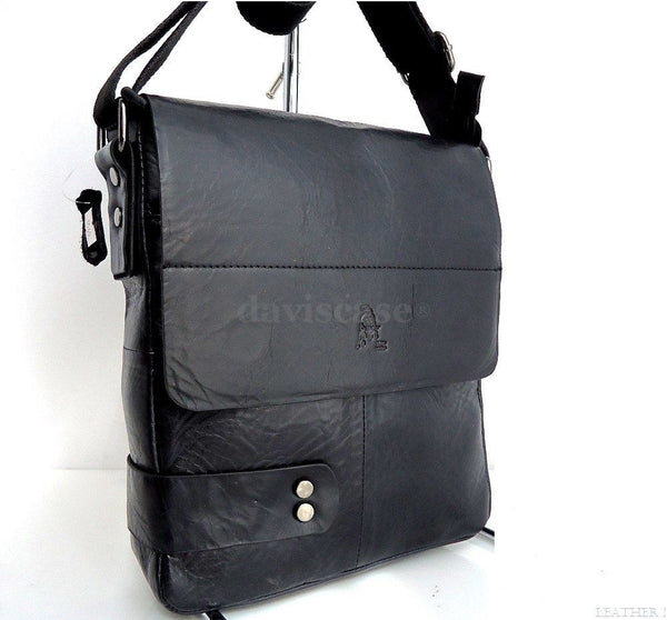 pu Leather Bag Messenger laptop Business man Design Black Special 13 new id tote