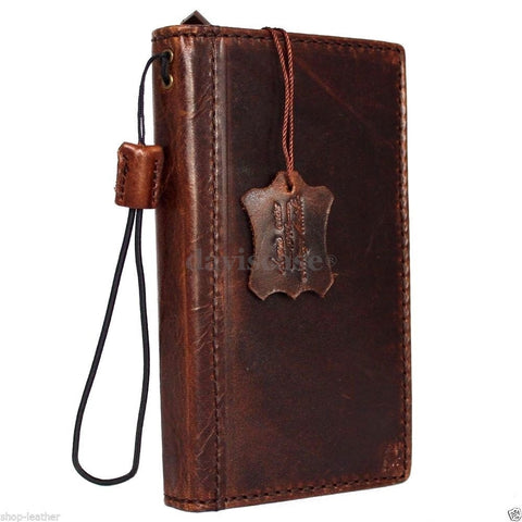 genuine vintage italian leather Case Fit for sony Xperia Z4 book wallet 4 z handmade IL
