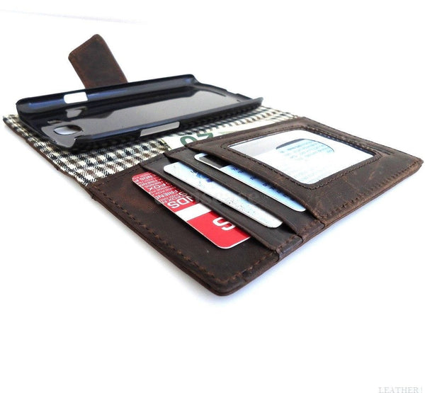 genuine new leather Case for Samsung Galaxy S3 SIII s 3 book wallet lll slim 70s  TA