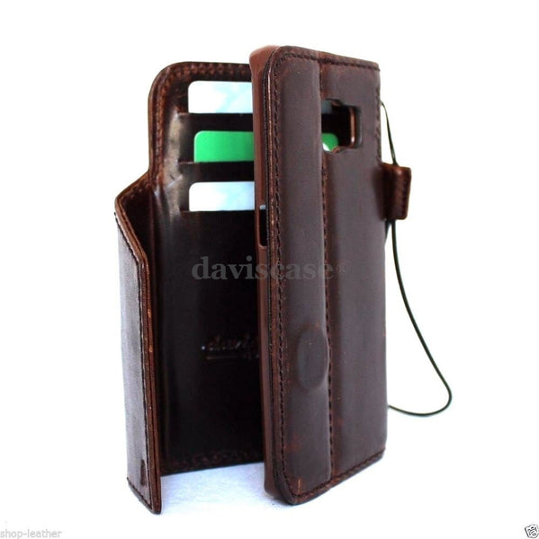 competitive price a8619 4e929 Genuine natural leather Case for Samsung Galaxy S6 Edge book wallet luxury  cover s bible daviscase