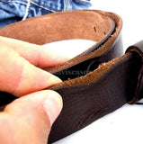 Genuine full Leather belt 43mm mens womens Waist handmade classic 60's b size m