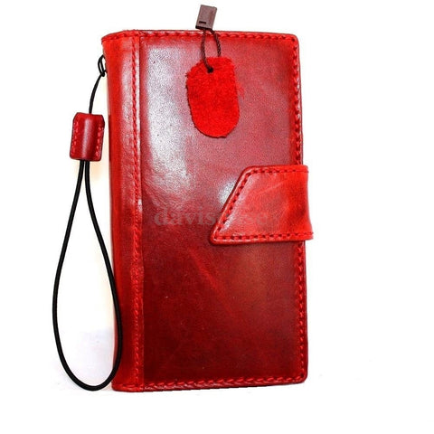 genuine vintage leather hard Case for LG G3 slim book luxury pro wallet handmade MAGNET close red wine