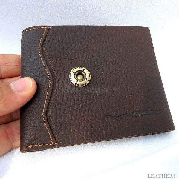 Men Money Genuine full Leather wallet Billfold Design Money Clip HANDMADE coin id free shipping