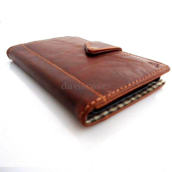 genuine leather Case for Samsung Galaxy Note 1 book wallet credit