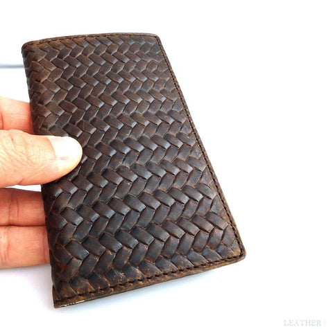 genuine real leather Case 3S for Samsung Galaxy S3 3 book wallet handmade