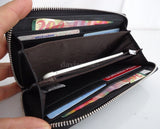 genuine Wallet Leather Purse Clutch Long New Handbag Bag S Lady Bowknot Card Womens Fashion Button Zip Case Bifold