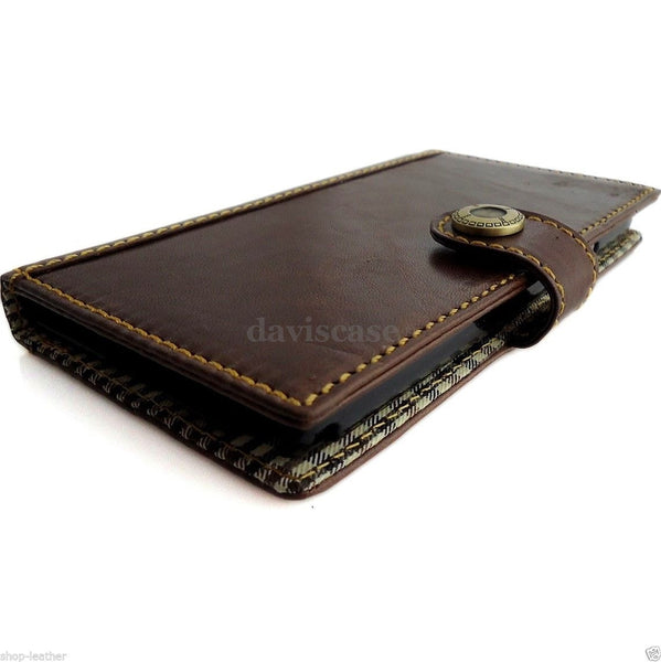 genuine 100% leather Case fit Samsung Galaxy Note 3 book wallet handmade magnet