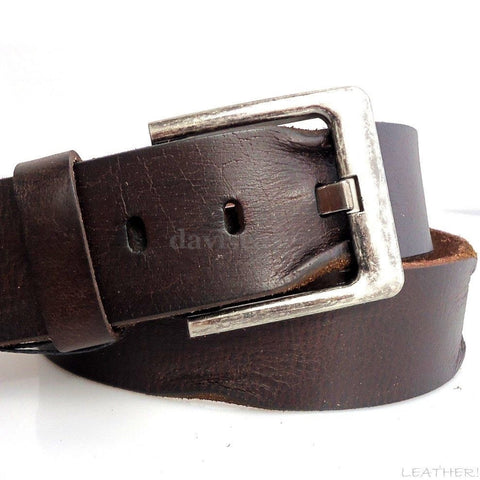Genuine full Leather belt 43mm mens womens Waist handmade classic for size S new