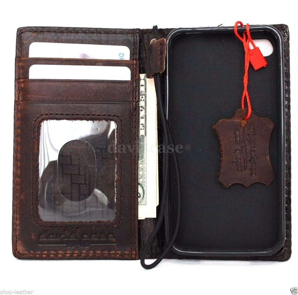 Best Book Cover For Iphone : Genuine oiled leather case for iphone s book wallet