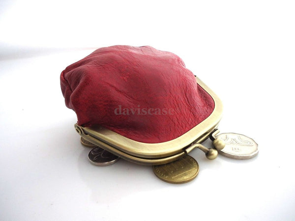 Genuine Soft leather woman mini Coins purse bag Ladies wallet case Miniature win
