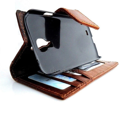 genuine leather Case for Samsung Galaxy S4 SIII s4 book wallet cover flip handmade UK free shipping