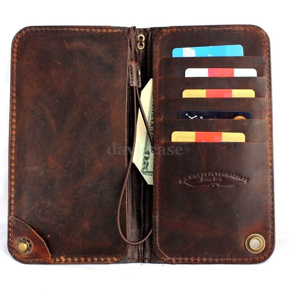 genuine italy leather case for iphone 6 cover book wallet id credit card magnet luxurey flip free shipping