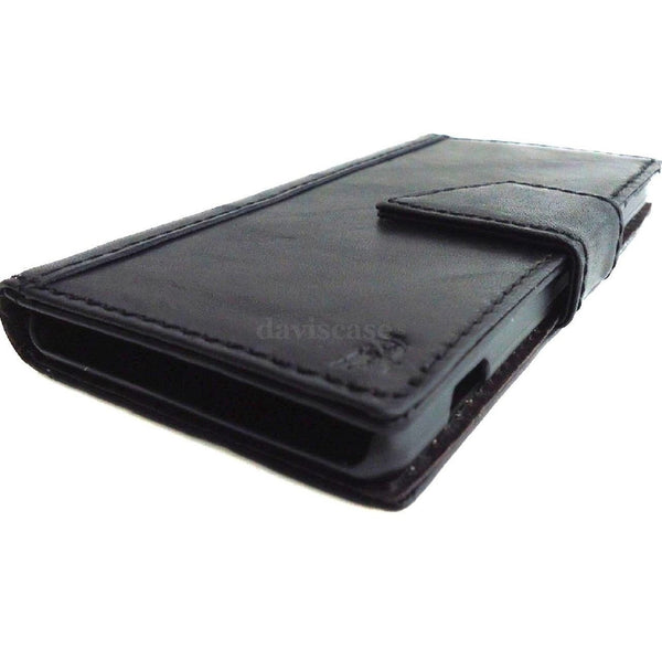genuine real vintage leather Case For sony Xperia Z2 book wallet 100% good Leather