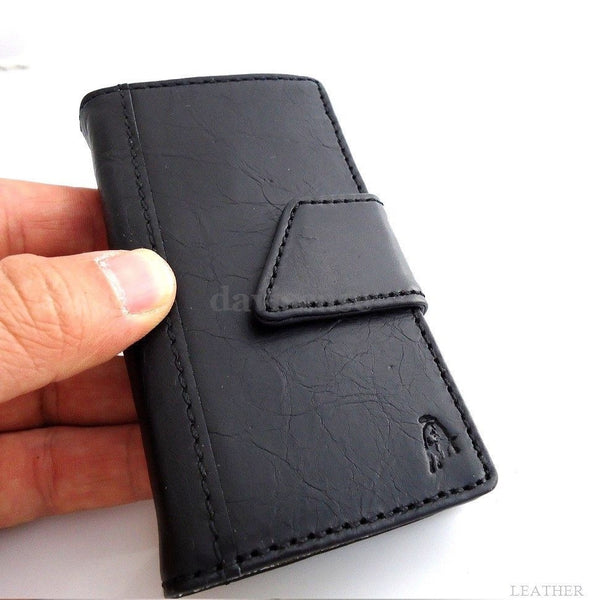 genuine natural leather slim case for iphone 5 5s cover book wallet handmade s australia