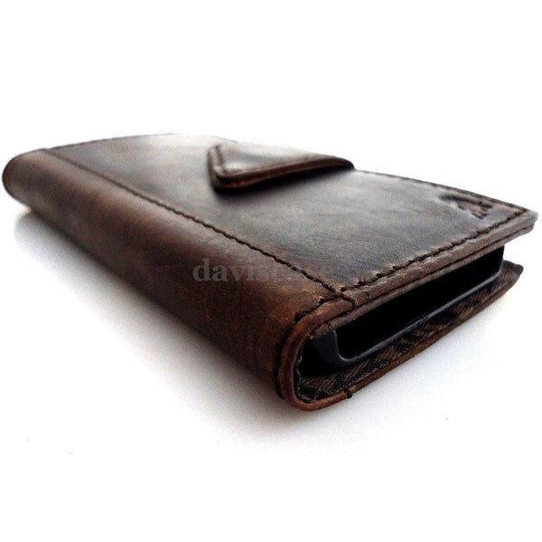 genuine vintage leather case for iphone 5 s stand book wallet credit card 5s TA free shipping