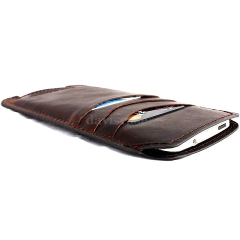 genuine italian leather Case for apple iphone 6 plus solt  book wallet cover credit cards free shipping