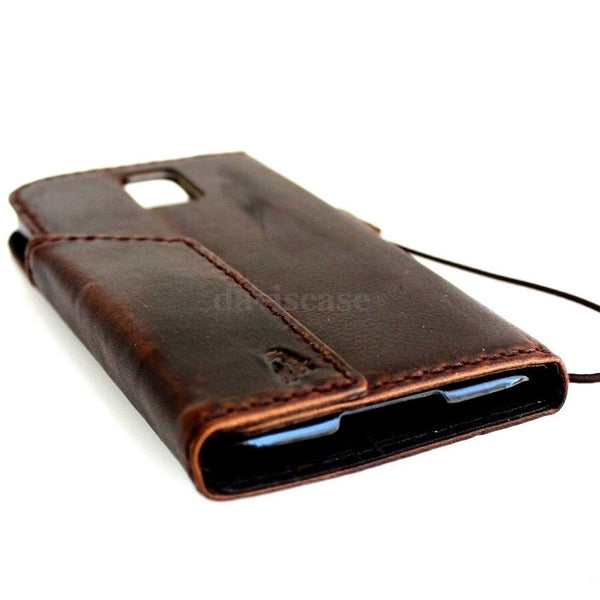 genuine italian leather case for samsung galaxy s5 cover purse book pro wallet stand TA
