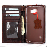 genuine natural leather Case for Samsung Galaxy S6 active book wallet luxury cover s 6 slim
