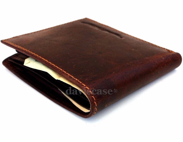 Men Genuine italian Leather wallet Billfold case COIN POCKET CARD id 1 Cash Slots  handcraft free shipping  case