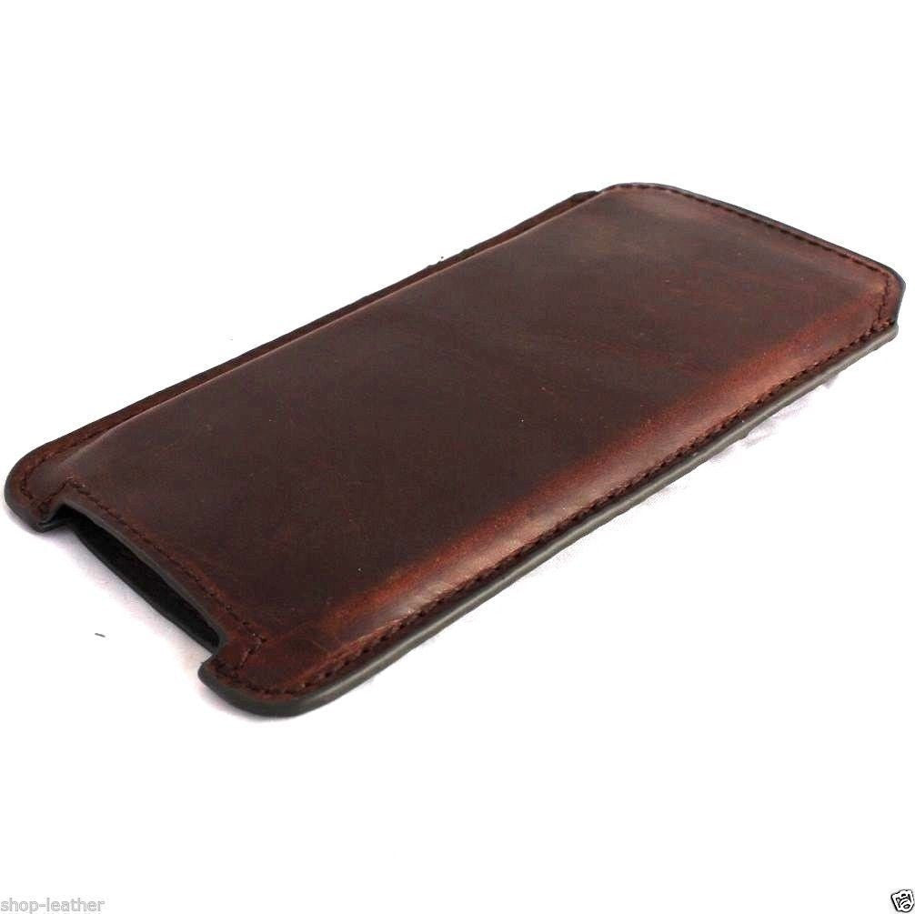genuine vintage leather case for iphone 6s plus \\ note 5 cover ...