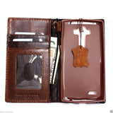 genuine oiled leather Case for LG G4 slim cover book luxury pro wallet handmade MAGNET close