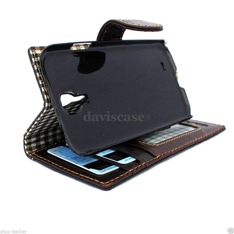 genuine italian leather Case for Samsung Galaxy S4I s 4 book wallet handmade luxury business