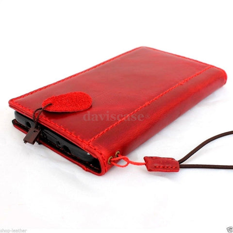genuine oil leather hard case for Galaxy NOTE 4 LEATHER CASE cover book RED wallet stand  flip free shipping luxury uk