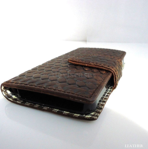 genuine vintage leather case for iphone 4s 4 cover book wallet Magnet Closes i4s