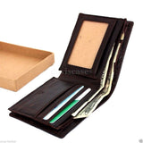 Men Money Clip Genuine Leather wallet Coin Pocket Purse crocodile creditcards TA