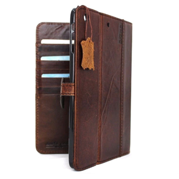 genuine real Leather case for apple iPad Pro 12.9 hard cover handbag stand magnet vintage brown cards slots slim daviscase luxury 2015