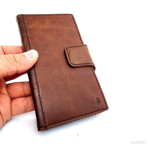 genuine cow leather Case For Samsung Galaxy Note 3 book wallet handmade brown us