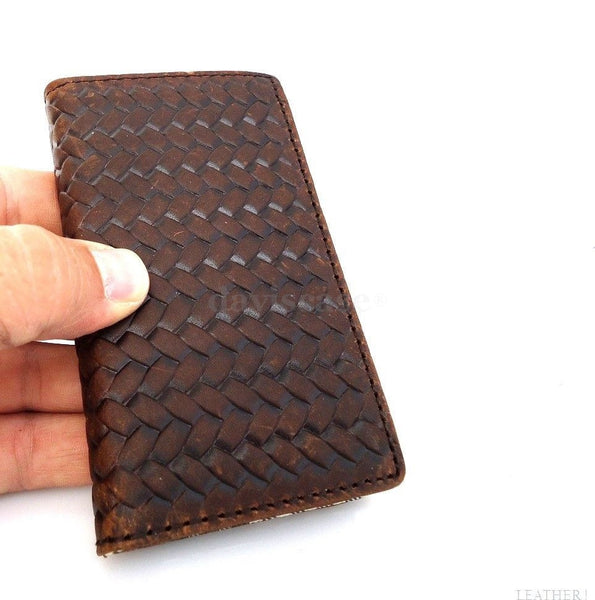genuine vintage leather pro case for iphone 5 5s book wallet cover new handmade cards australia