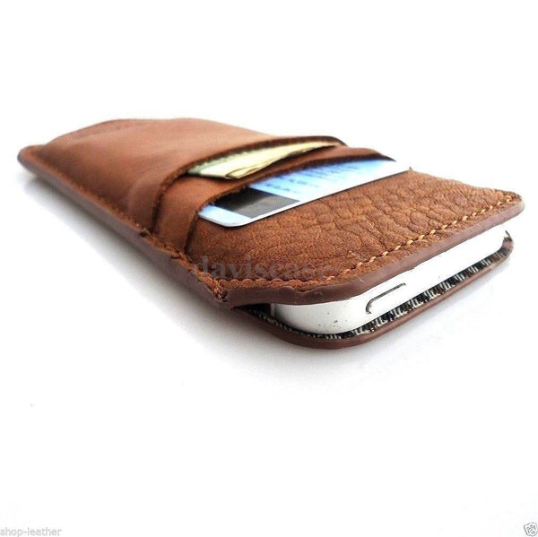genuine top leather case for iphone 5 5s 5c purse pouch pull book creditcards id sweden
