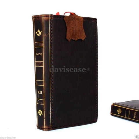 genuine natural leather Case for Samsung Galaxy S6 Edge book wallet luxury bible cover s bible