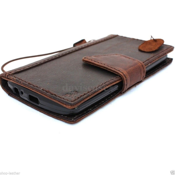 genuine italian leather hard Case for LG G3 slim book luxury pro wallet handmade MAGNET close