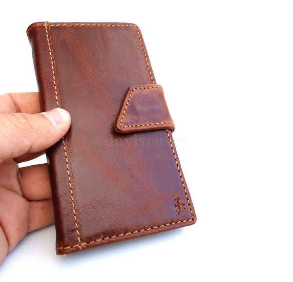genuine vintage leather Case 3S for Samsung Galaxy S3 3 book wallet handmade ta