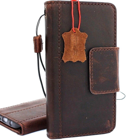 Genuine vintage leather Case for Samsung Galaxy S9 Plus book jafo wallet magnetic closure cover cards slots strap luxury daviscase