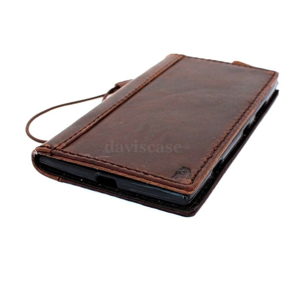 genuine italy leather case for iphone 6 plus cover book wallet credit card id business slim flip free shipping  uk