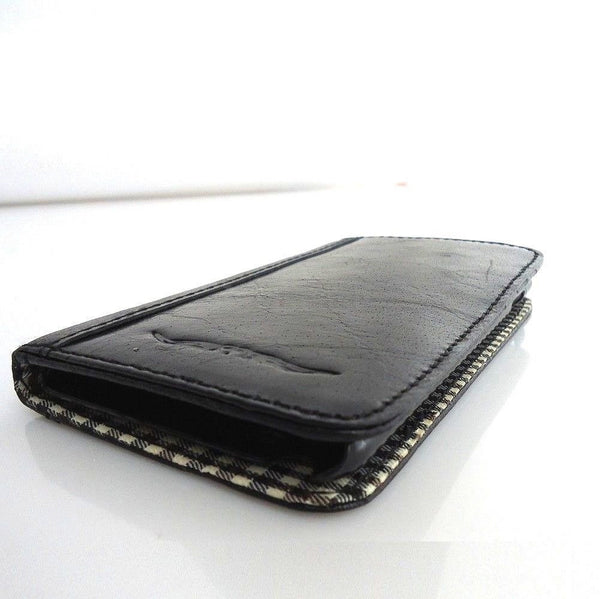 genuine 100% leather Case for Samsung Galaxy Note 1 book wallet credit cards