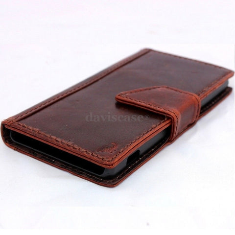 genuine real 100% good leather Case Fit sony Xperia Z2 book wallet 2 z handmade TA