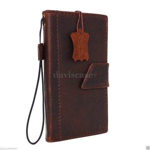 genuine vintage leather Case for Samsung Galaxy note edge book wallet luxury cover s Businesse IL