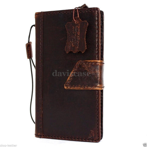 genuine vintage italian leather Case For sony Xperia Z4 book wallet 4 z handmade IL