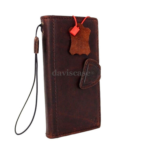 genuine natural leather Case for Samsung Galaxy S6 active book wallet luxury cover s 6 magnet