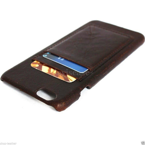 genuine italy oiled leather handmade case for iphone 6 plus  cover wallet credit card  luxurey R free shipping  5.5 inch