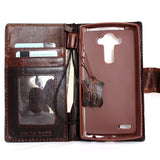genuine italian leather hard Case for LG G4 slim cover book luxury pro wallet handmade MAGNET close