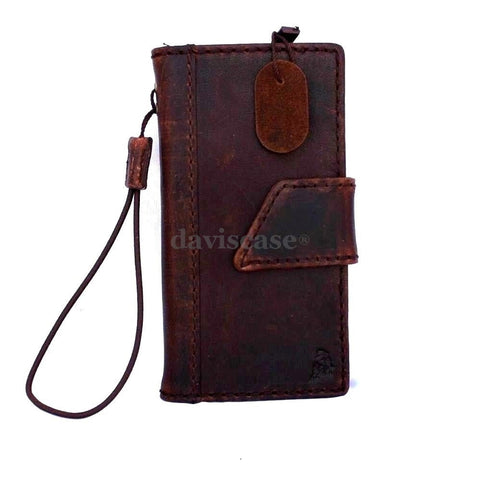 genuine vintage leather case for iphone 5 cover book wallet stand holder