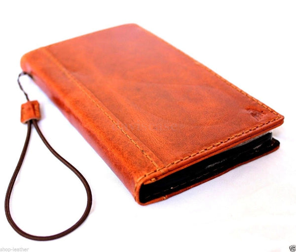 genuine oil cow leather hard case for iphone 4s 4 cover book wallet credit card c s flip handmade luxury ! gift