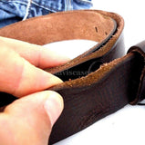 Genuine full Leather belt 43mm mens womens Waist handmade classic 60' s b size L