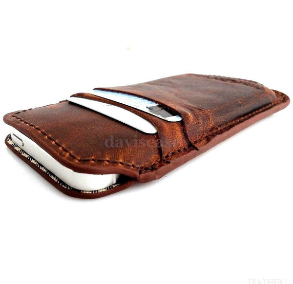 genuine vintage leather case for iphone 5 s cover book wallet 5c 5s handmade c P