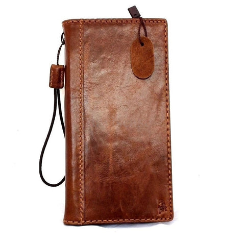 genuine real leather case for iphone 6 plus cover book wallet band credit card id business luxury slim flip free shipping  uk